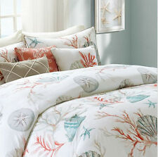 Coral, Seashells, Starfish, CAL King Comforter Set KO (7 Piece Bed In A Bag)