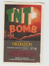 Vintage TNT Bomb Firecracker Pack Label