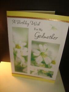 Birthday: A Birthday Wish for My Godmother Happy Birthday Greeting Card B28