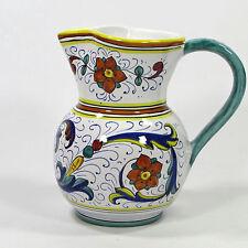 Sambuco Mario 24oz Small Water Pitcher Ricco Amphora Italian Pottery Deruta