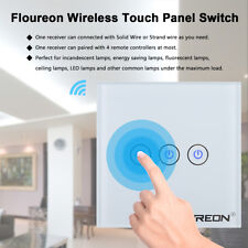 3 Gang 1 Way Smart WiFi RF Remote Control Panel Wall LED Light Lamp Touch Switch