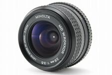 【EXC+++++】MINOLTA MD W.ROKKOR 28mm f/3.5 MF Lens SLR Film Camera From Japan #20