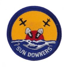 """MILITARY EMBROIDERED PATCH - VF-111 SUNDOWNS U.S. NAVY -- IRON-ON -- NEW 3"""""""