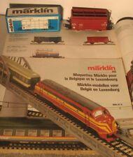 Märklin HO:  4656 SNCB Güterwagen mt Export Prospekt 1986/87
