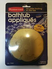 Vintage 1983 Rubbermaid Bathtub Appliques Safety Grip No. 7085 Made in USA