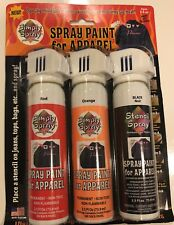 Simply Spray Stencil Paint Spray Paint For Apparel 3 2.5 oz. Cans BNIB