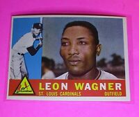 1960 Topps #383 Leon Wagner Cardinals Sox NmMt High Grade Sharp!
