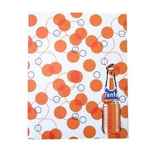 COCA COLA BRAND FANTA ORANGE SODA RETRO POCKET PORTFOLIO FOLDER SCHOOL OFFICE