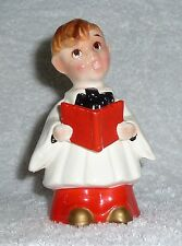 Vintage Kreiss Christmas Choir Boy Caroler Singer Figurine Red Hair Man Napco
