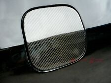 REAL GLOSSY CARBON FIBER FUEL DOOR COVER FOR 92-96 HONDA CIVIC EG3D 3-DR HATCH