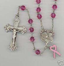 Catholic Breast Cancer Awareness Rosary Kit
