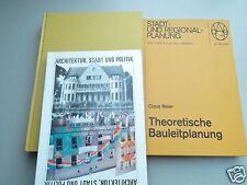 3x Architektur 1970/78/79  Architekt Städtebau Stadtplanung Stilkunde Bauplanung