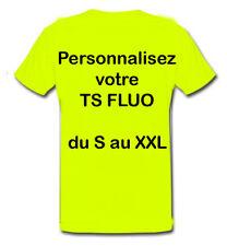 Tee shirt JAUNE FLUO SÉCURITÉ PERSONNALISABLE avec logo