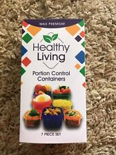Portion Control Container 7 Piece Kit Healthy Living Food Storage Set COMPLETE G
