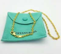 18ct (750, 18K) Authentic Tiffany&Co Yellow Gold Anchor Figure 8 Chain Necklace