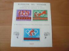 Ekuador  Olympia 1966 Geschichte der Olymp. Sp.  Bl. 26A  postfrisch