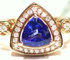 2.59ct 14k ORO Tanzanita Natural Blanco Talla Diamante Vintage AAA