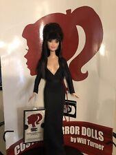 Elvira, Mistress of the Dark CUSTOM HORROR DOLL OOAK 12 Inch Figure CLEARANCE