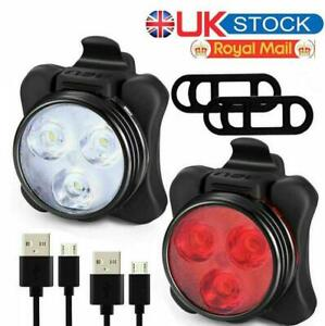 Bike Light Set, Super Bright USB IP54 RECHARGEABLE Bicycle, Free Mask Kids Adult