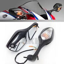 Black Mirrors w/ Turn Signal For 2008-2012 Honda CBR 1000RR / CBR1000RR