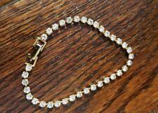Vintage Gorgeous Gold Tone Faux Diamond Bracelet