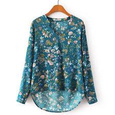 Camisas y tops de mujer de manga corta color principal azul talla XL