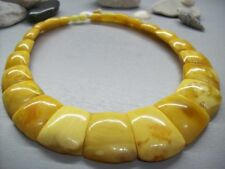 LUXURY 78.9 gr BALTIC AMBER Necklace Art Deco Cleopatra Style Yolkegg Colour