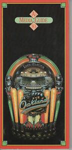 1983 Oakland A's Press/Radio/Tv Media Gude