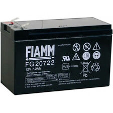 BATTERIA FIAMM  FG20722 12V 7,2Ah  FASTON 6,3 mm FG 20722 PER UPS - ALLARMI