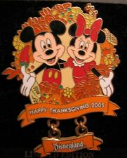 Disney 42535: Dlr - Thanksgiving 2005 - Mickey and Minnie Pin New Le