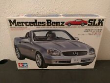 TAMIYA 1/24 MERCEDES-BENZ SLK CONVERTIBLE SILVER COLOR BLACK INTERIOR