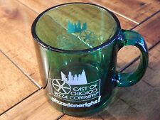 EAST of CHICAGO PIZZA COMPANY - Pizza Done Right! - (Clear Green) Glass MUG