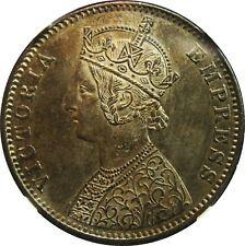 British India Empress Victoria 1892C Rupee NGC MS-63, Beautifully Toned!