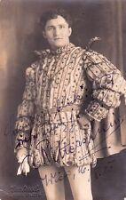 ALBIN VON RITTERSHEIM opera tenor signed photo as the Duke of Mantua, 1920