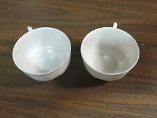 Limoges Haviland France Tea Cups. White Porcelain with Embossed...