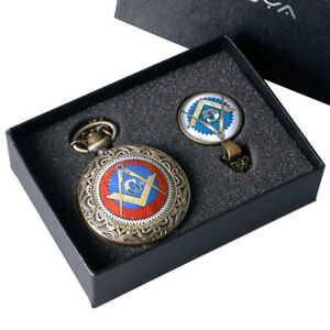 Retro Masonic Freemason G Freemasonry Pocket Watch Necklace Chain Best Gift Sets