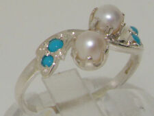 Turquoise Band Sterling Silver Fine Rings