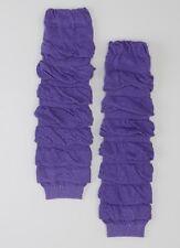 Pretty Purple Ruffle Leg Warmers One Size Fits Most NEW