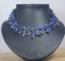 *Freedom Tree* Lapis Lazuli  Gemstone Choker  Necklace Chakra /Healing Hand Made