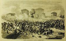 1859:Guerre d'Italie..,Attaque/Attacco de BUFFALORA - Risorgimento.Xilo.Etna