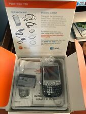 Palm Treo 750 Black At&T Blue Silver Great Shape Untested In Box & Accessories