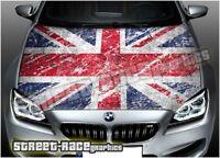 702 Car bonnet hood wrap printed graphic AIR RELEASE vinyl Union Jack UK flag