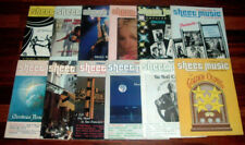 Lot Of 12 Vintage Sheet Music Magazine 1983 - 1984 Standard Organ ~ Noel Coward+