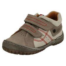 Chaussures grises avec boucle en cuir pour garçon de 2 à 16 ans