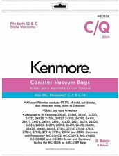 Kenmore Vacuum Bags - Style C/Q Canister 50104 (8 Pack)