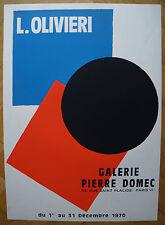 LUCIENNE OLIVIERI  (1910/2007)  - EXPO GALERIE DOMEC 1970