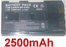 Battery 2500mAh type BP-930G BP930G For Canon XHA1