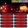 10x Red 6LED Side Marker Indicators Clearence Light for Truck Trailer Boat 12V