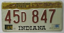 Indiana 1984 LAKE COUNTY License Plate HIGH QUALITY # 45D 847