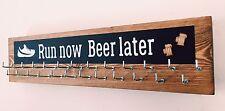 Run Now Beer Later - Runner/Sports Medal Hanger/Holder/Display